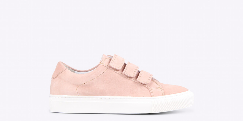 womens – Bonni velcro suede Rose