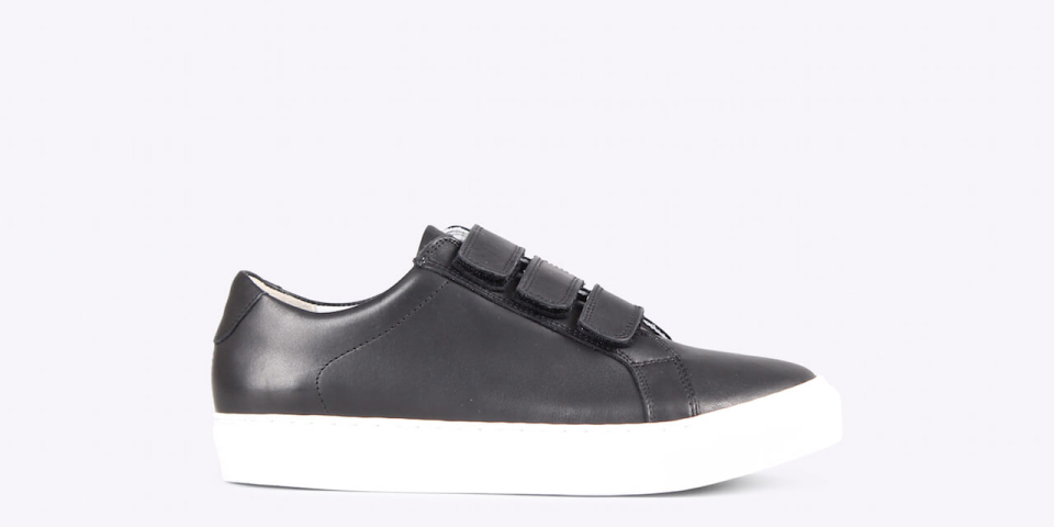 Womens – Bonni velcro nappa black